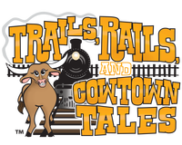 Trails, Rails, and Cowtown Tales logo, 200 pixels wide.png