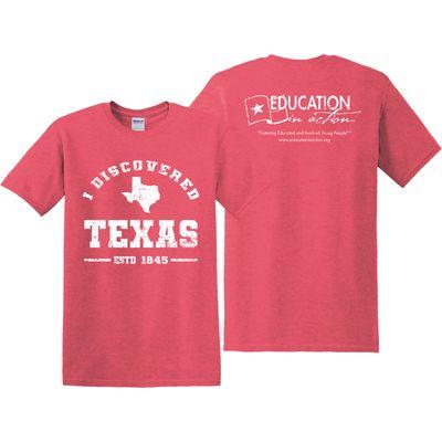 Red I Discovered Texas shirt - resized.jpg