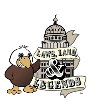 Laws, Land, & Legends Logo