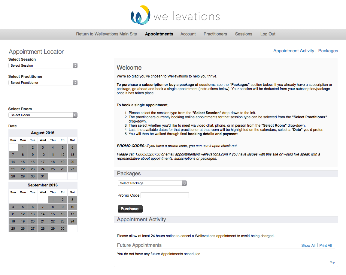 wellevations appointments