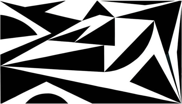 Racae Meyer - Black & White No. 1, original oil on canvas, 40'x70', 2016, Erwin Meyer Studio, LLC.jpg
