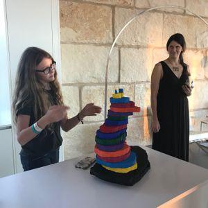 Racae Meyer - 6 Annabelle explaining her sculpture with Lauren in background.jpg