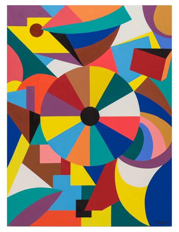 Geometric Fantasy No. 1, original oil on canvas, 30_x40_ 2013, Erwin Meyer Studio, LLC.jpg