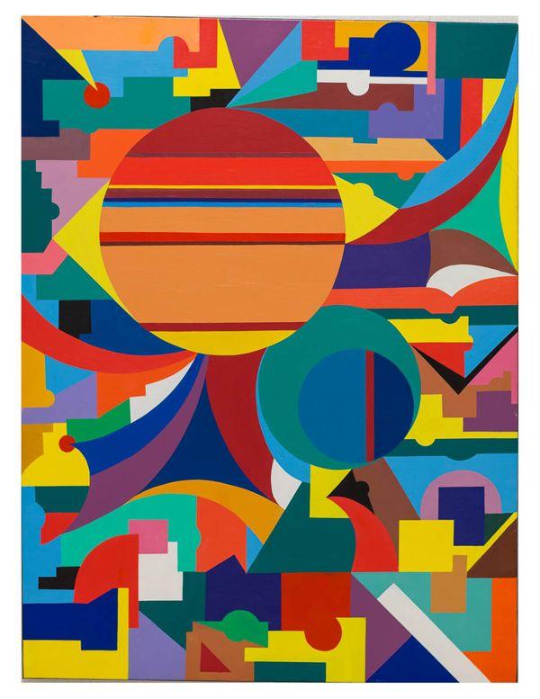 Geometric Fantasy No. 4, original oil on canvas, 36_x48_ 2013, Erwin Meyer Studio, LLC.jpg