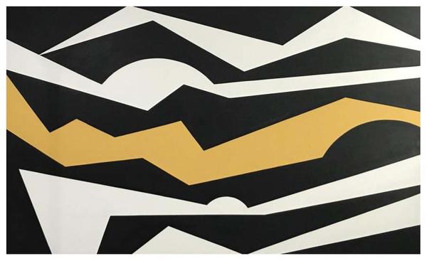 Racae Meyer - Black & White + Color No. 1, original oil on canvas 2017, Erwin Meyer Studio, LLC.jpg