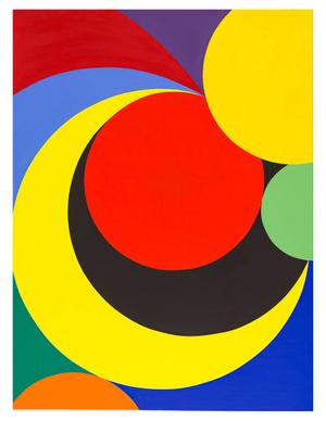 Orbiting Circles No. 2, oil on canvas, 36_x48_ 2015 Erwin Meyer Studio LLC.jpg