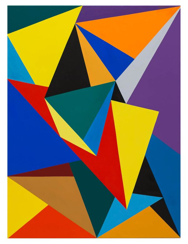 Triangulation No. 1, original oil on canvas, 30_x40_ 2014 Erwin Meyer Studio, LLC.jpg