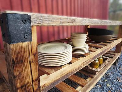 Custom Wood Industrial Shelves