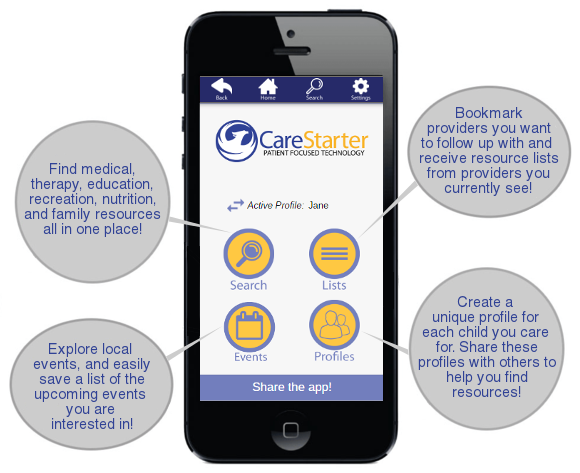 CareStarterApp Landing Page Home Screen.png