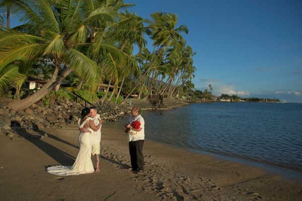 Elopement ceremony on Maui