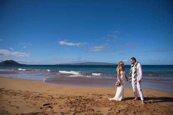 Wedding couple on Maui