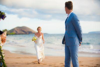 Maui Beacdh Wedding at Poolenalena