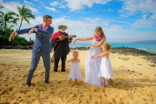 Maui wedding photography at Makena Cove.