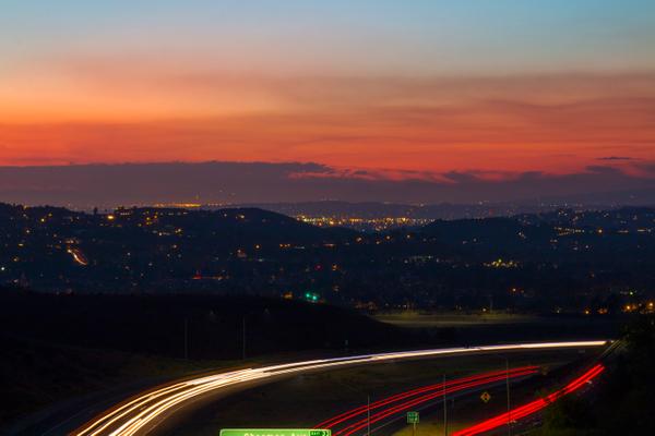 Sunset over Orange Hills