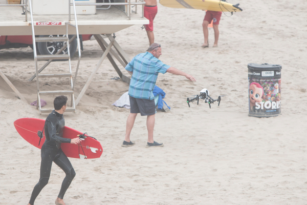 Drone Eddie catching his Inspire