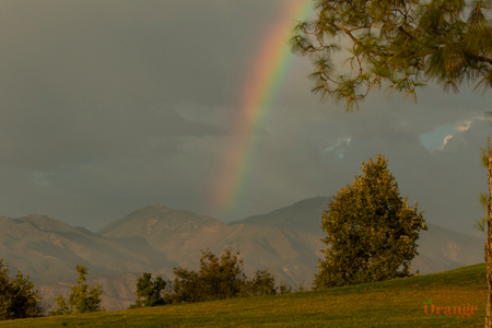 Rainbow between Saddleback