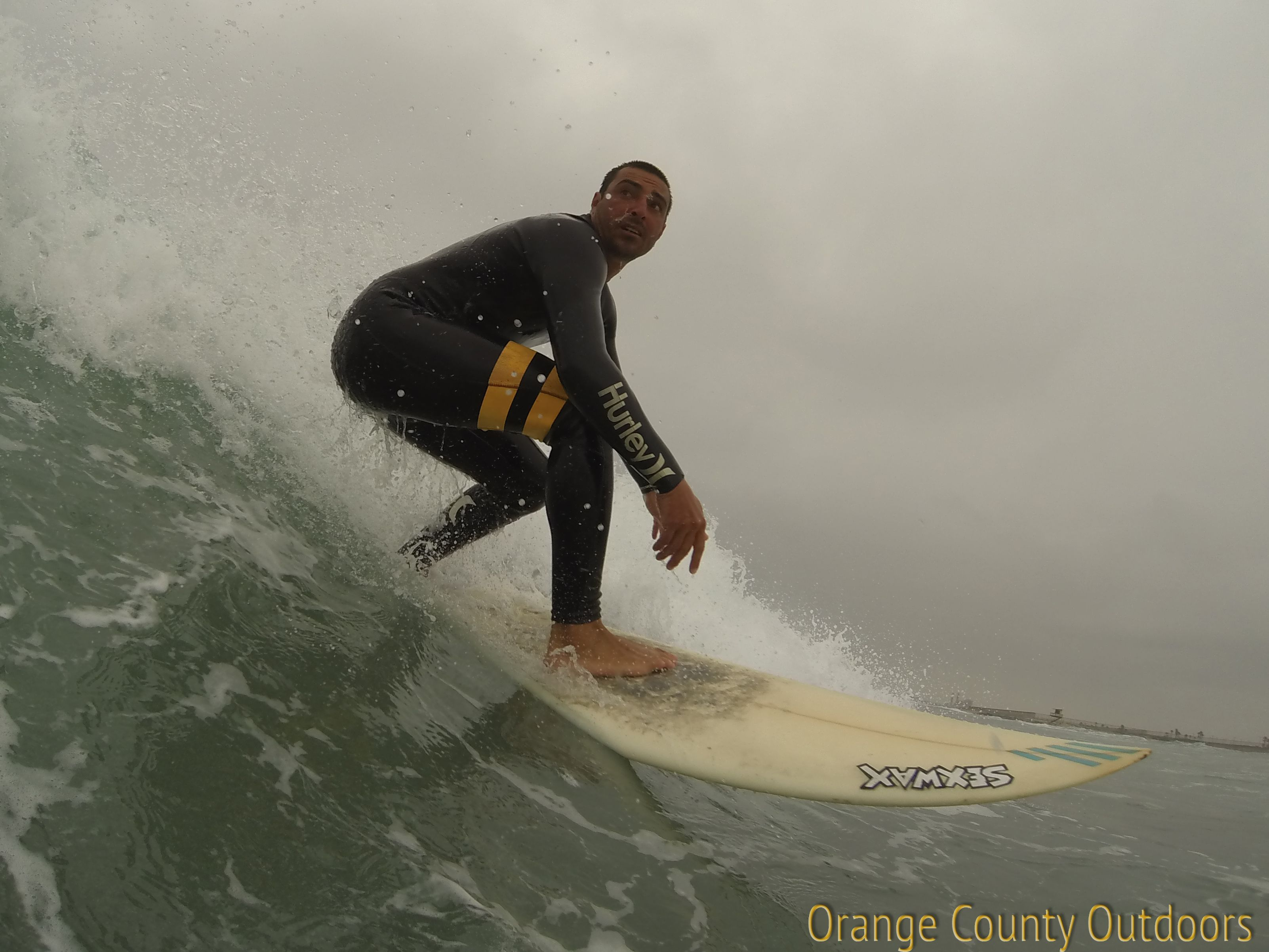 Surfing in Newport Beach