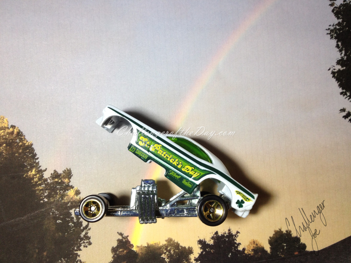 St. Patrick's Day Funny Car by Hot Wheels (2).JPG