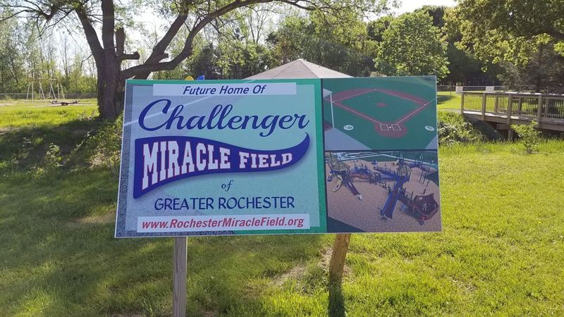 Challenger Miracle Field Sign