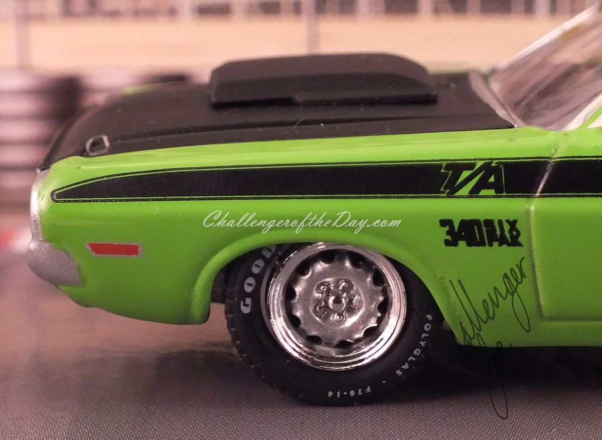 Johnny Lightning Green 340 Six Pack - Driver's Side Front Panel View