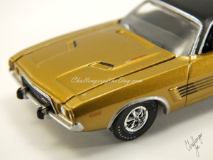 Auto World 1973 Dodge Challenger Rallye Gold (7).JPG