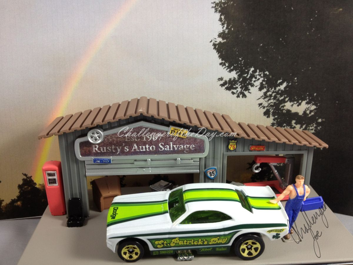 St. Patrick's Day Funny Car by Hot Wheels (1).JPG