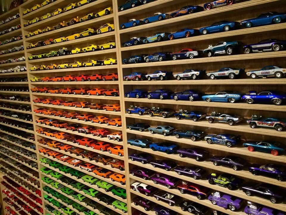 Dodge Challenger Die Cast Collection Wall