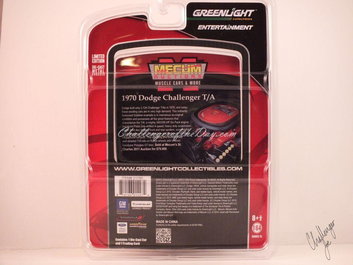 Johnny Lightning Green 340 Six Pack - Original Package Back