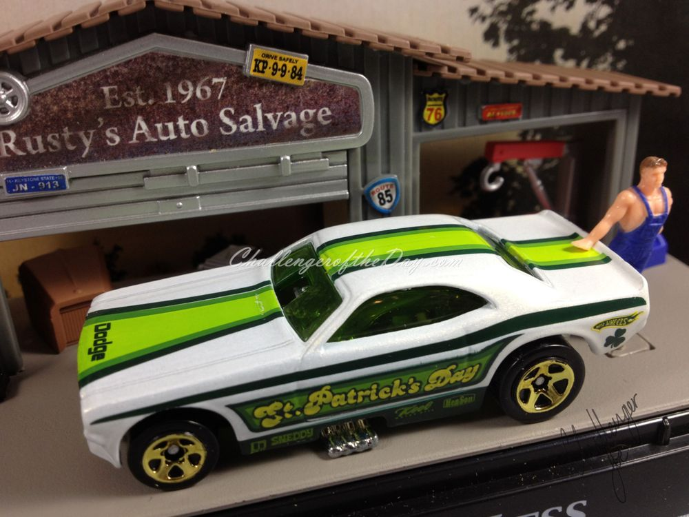 St. Patrick's Day Funny Car by Hot Wheels (3).JPG