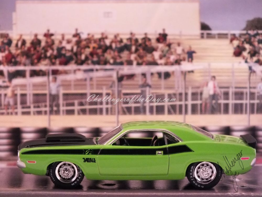 Johnny Lightning Green 340 Six Pack - Driver's Side View