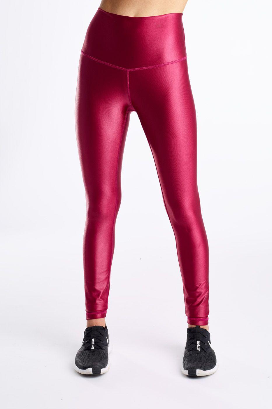 DYI High Shine Crimson Red Legging