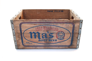 Ma's Root Beer Wooden Crates