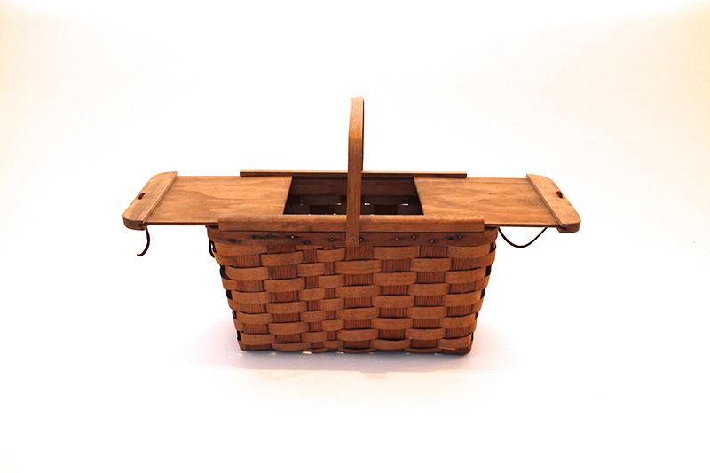 Woven Wooden Picnic Basket
