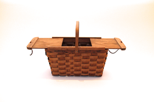 Woven Wooden Picnic Basket