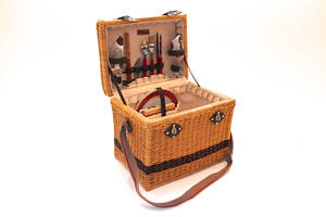 Two Tone Wicker Box Basket