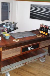 Reclaimed Lumber Bar Cart