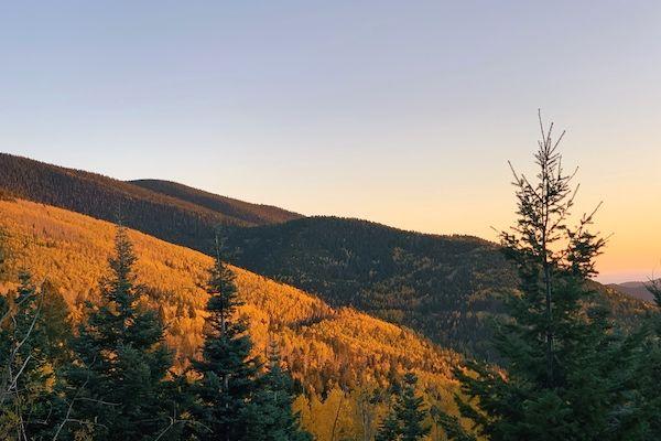 where to see fall colors santa fe