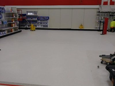 Commercial LVT Flooring Installation