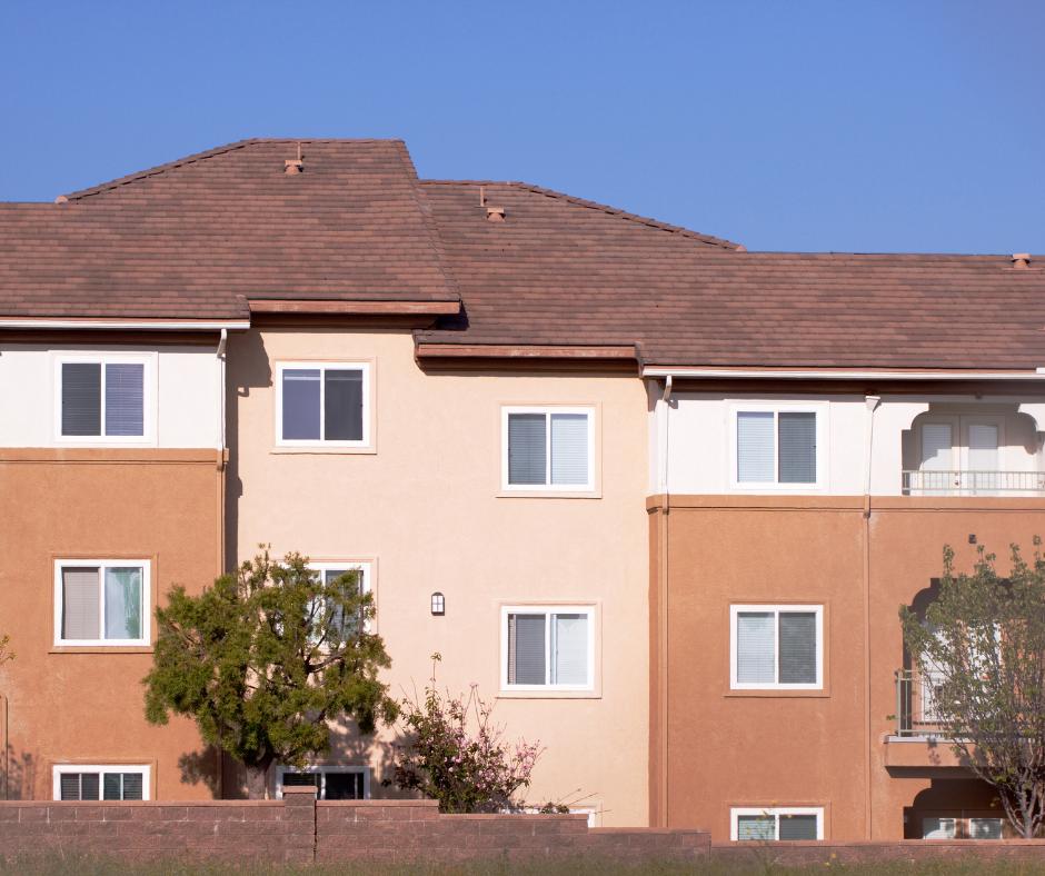 Stucco Apartment Building