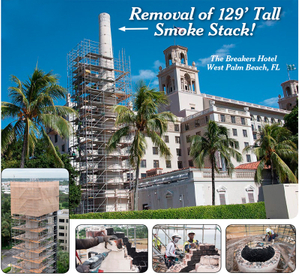 Removal of 129' Smoke Stack