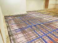 Installation of conduit, steel, and cables