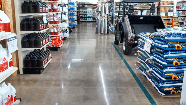 Polished Concrete In Store In Ohio