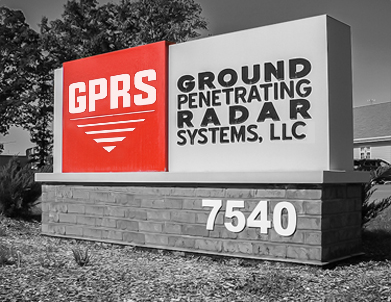 Ground Penetrating Radar System Concrete Scanning Sign
