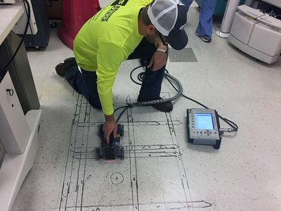 GPRS Scans for Post-Tension Cables at OSU Medical Center - Ground