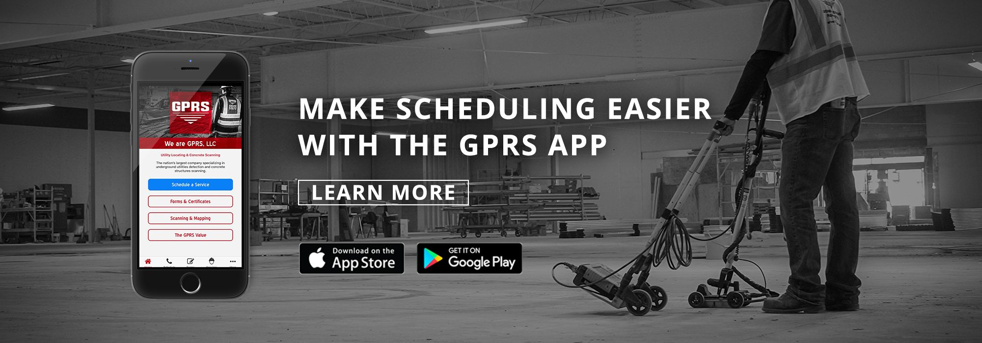 Ground Penetrating Radar App GPRS