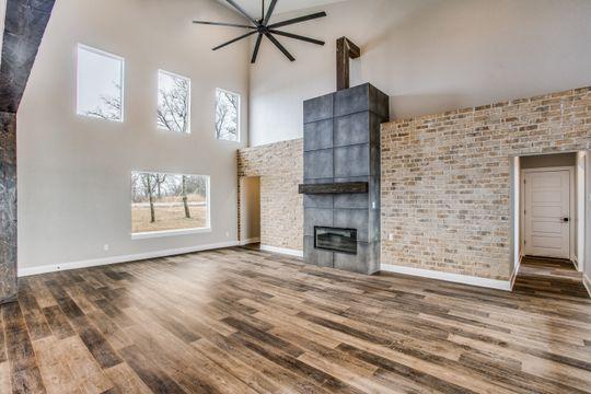 Faux Concrete Fireplace