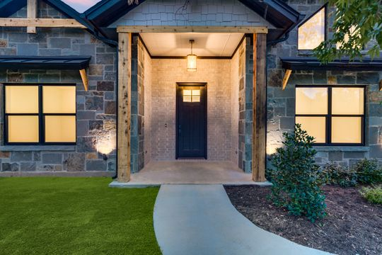 Front entrance of custom home