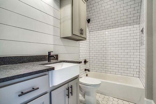 Decatur, Texas Custom Bathroom with Subway Tile and Shiplap