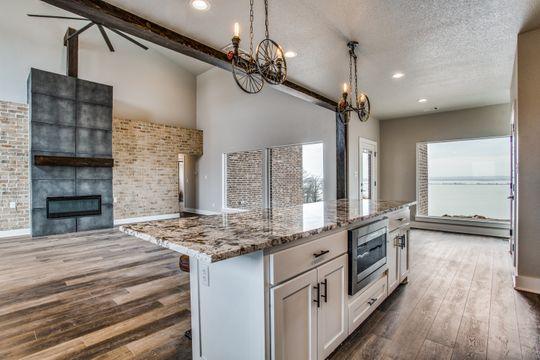 Modern Lake House in Bridgeport, Kitchen View