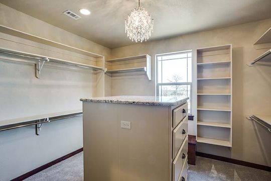 Custom Cabinetry in Walk in Closet